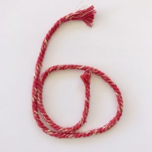 corde peignée rouge et dorée