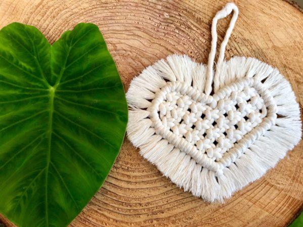 coeur en macramé