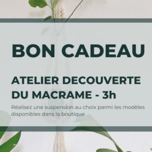 Bon cadeau Atelier DECOUVERTE 3h