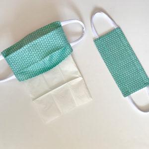 Sur Commande : Masque en tissu rectangulaire à plis (recommandation AFNOR)